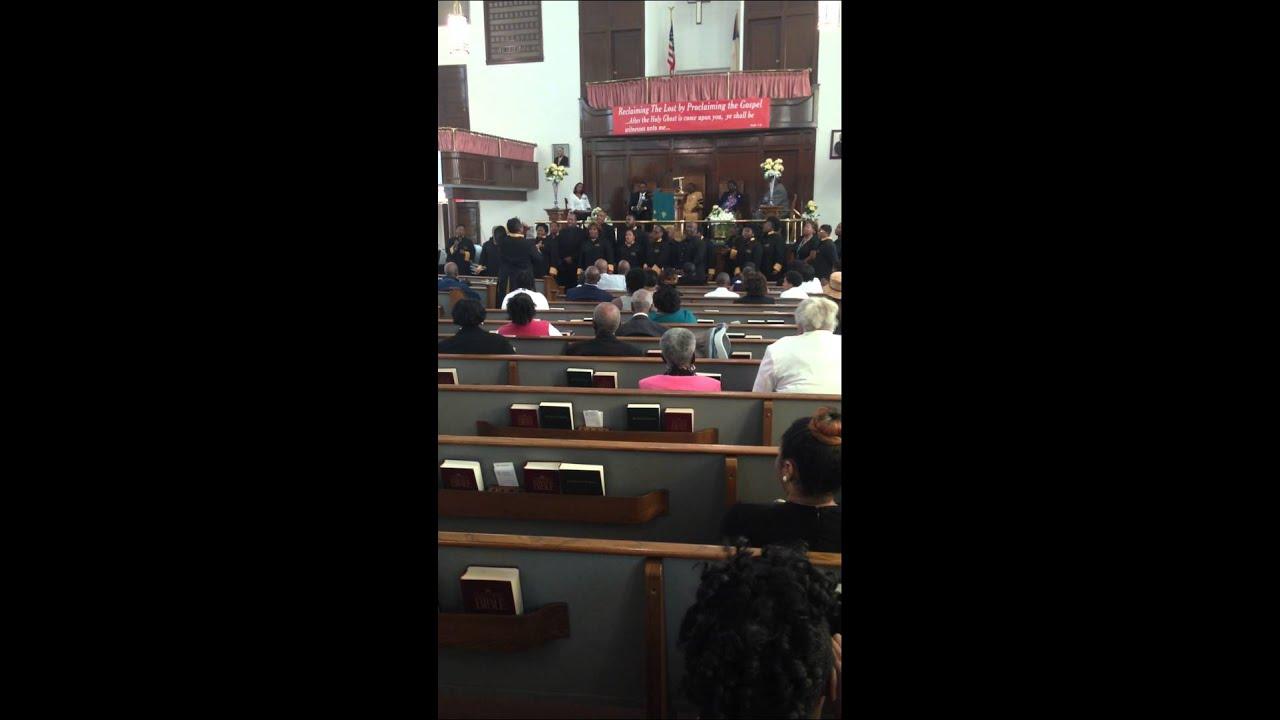 33rd Anniversary Celebration Dr. Pettis Zion Baptist Church New Light Choir  Richmond Va 8 3 14 Pt1