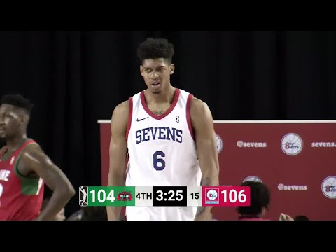 Devin Williams, Christian Wood and 1 other  Highlights from Delaware 87ers vs. Maine Red Claws