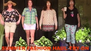 Affordable Casual Summer Haul & Lookbook | Mature Fashion | Donna's Mature Life
