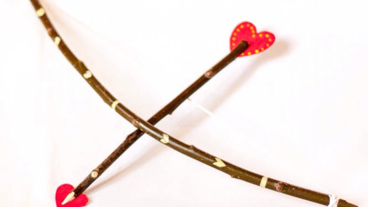 Make a Cute Wooden Bow and Heart Arrow - DIY Crafts ...