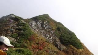 鹿島槍ヶ岳 ブロッケン現象 2012,10,8