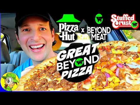 Pizza Hut® x BEYOND MEAT® GREAT BEYOND STUFFED CRUST® PIZZA Review 🌱🐖🍕 | Peep THIS Out! 🕵️♂️
