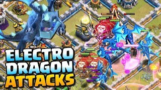 ElectroDragLoon - ELECTRO DRAGONS vs MAX TOWN HALL 12! Mass Electro Dragon Attack Strategy