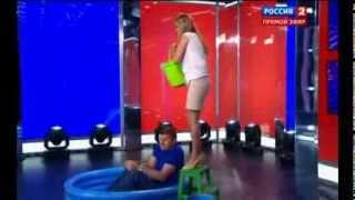 """Дмитрий Губерниев в """"Большом спорте"""" облился холодной водой"""