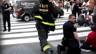 Times Square New York car crash footage