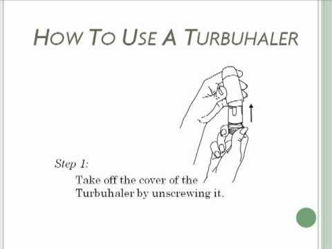 How To Use A Turbuhaler Turbuinhaler Asthma Inhaler Youtube