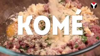 Kome Cheese Stuffed Meatballs