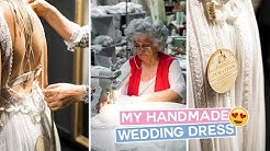 Story Behind Her Handmade Greek Wedding Dress