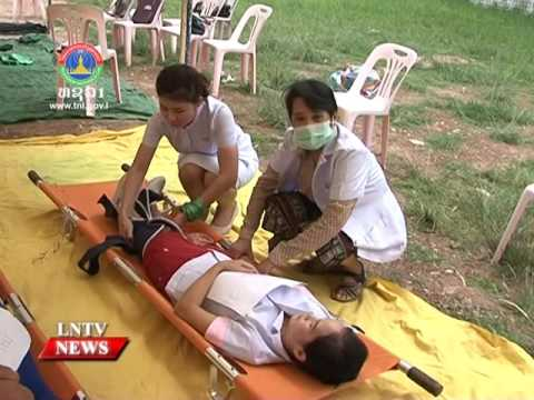 Lao NEWS on LNTV: Laos readies in delivery medical assistance response services.30/8/2016