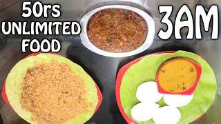3AM Unlimited Food At 50rs | nikkah biriyani | Tamil Foodie