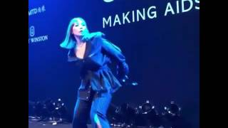 170325 CL @ AmfAR Gala -- Red carpet & LIFTED + HELLO BITCHES performance
