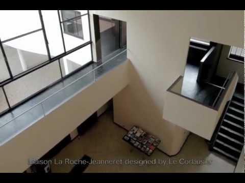 le corbusier maison la roche jeanneret youtube. Black Bedroom Furniture Sets. Home Design Ideas