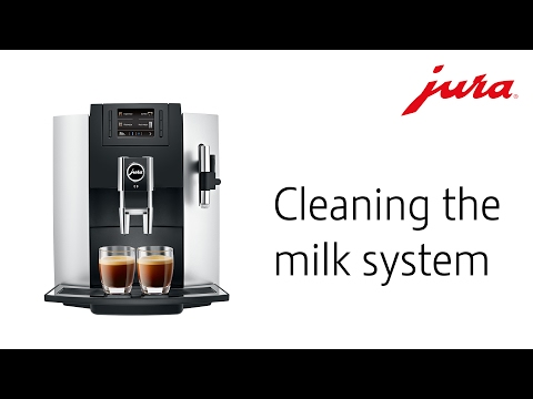 JURA E8 - Cleaning the milk system