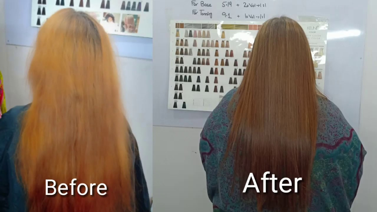 hair dye tutorial in urdu / keune hair color highlights / Yellow from  Blonde Hair/Nazia Khan