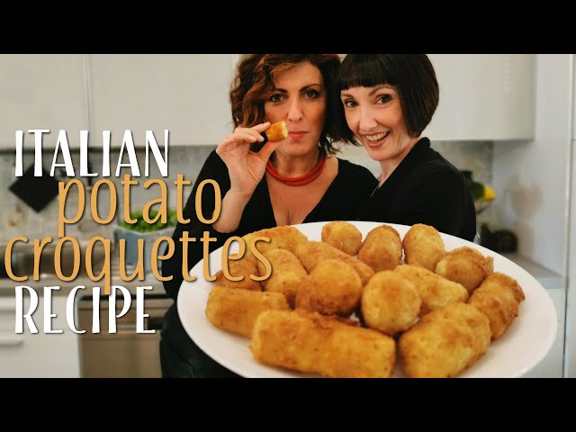 Easy Italian Potato Croquettes Recipe - Foodie Sisters in Italy