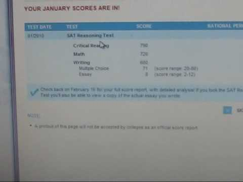 How do I read my SAT scores? And is my score a good score?