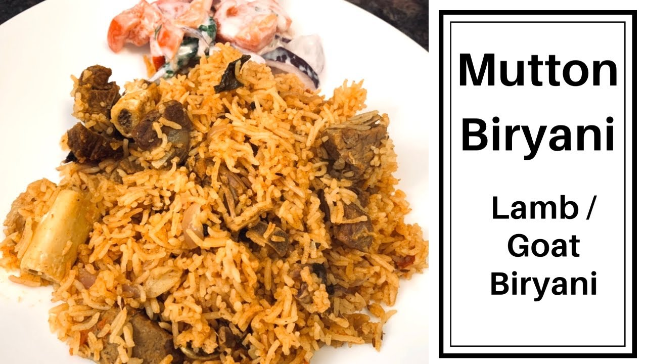 Mutton Biryani | Lamb Biryani |Goat Biryani |South Indian Style Mutton Biryani w/subtitle