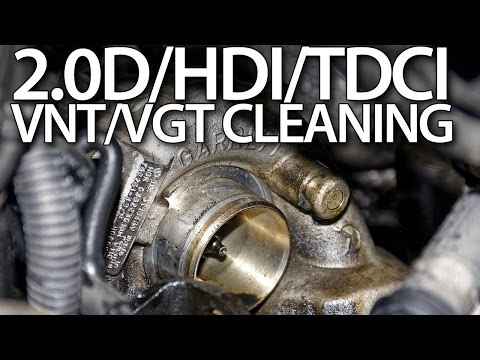 Cleaning VNT/VGT in 2.0D/HDI/TDCI Volvo Ford Peugeot Citroen