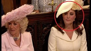 ROYAL WEDDING DRAMA!!! Kate Middleton GIVES Camilla A WICKED SIDE EYE At Royal Wedding!!! [VIDEO]