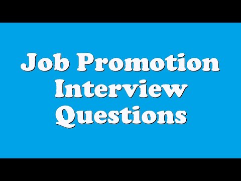 Job Promotion Interview Questions - YouTube