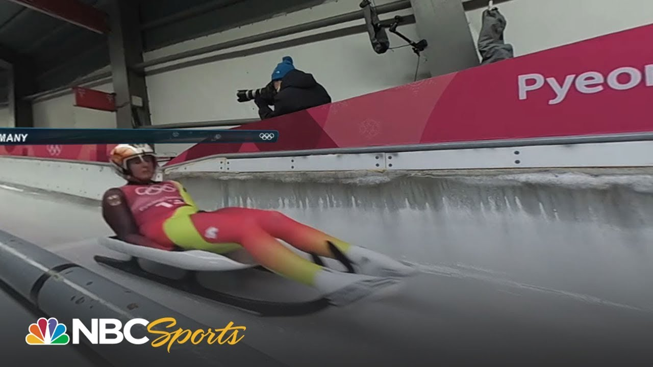 2018 Winter Olympics I Luge Team Relays in 360 VR!