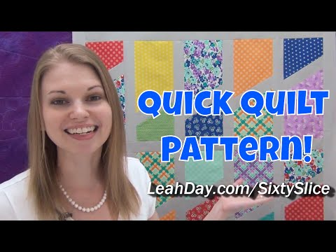 Quick and Easy Sixty Slice Quilt Tutorial - Free Quilt Pattern by Leah Day