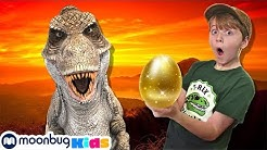Jurassic World Dinosaur Toy & Easter Egg Hunt | Jurassic Tv | Dinosaurs and Toys | T Rex Family Fun