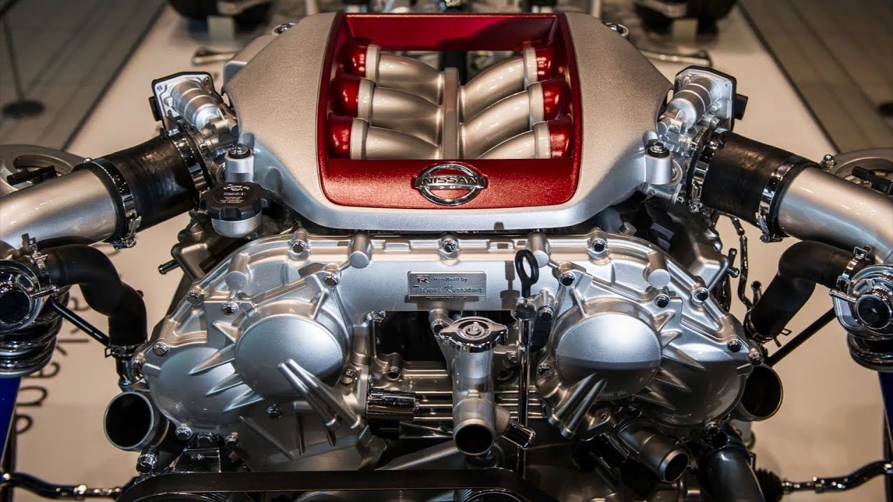 hight resolution of nissan gt r engine factory