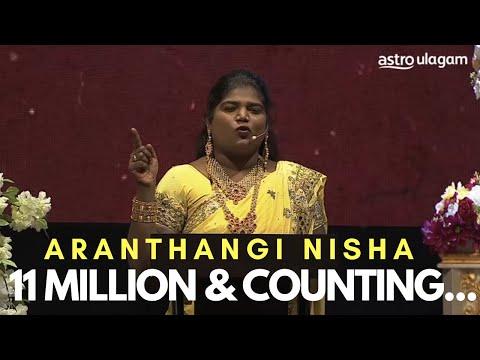 Aranthangi Nisha's Hilarious Speech at K. Bhagyaraj's Pattimandram