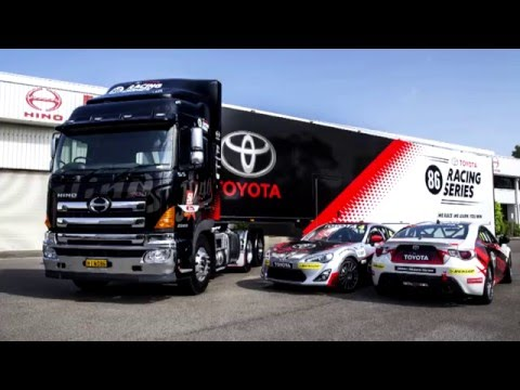Toyota 86 Racing Series Hino 700 Series Truck Wrap Youtube