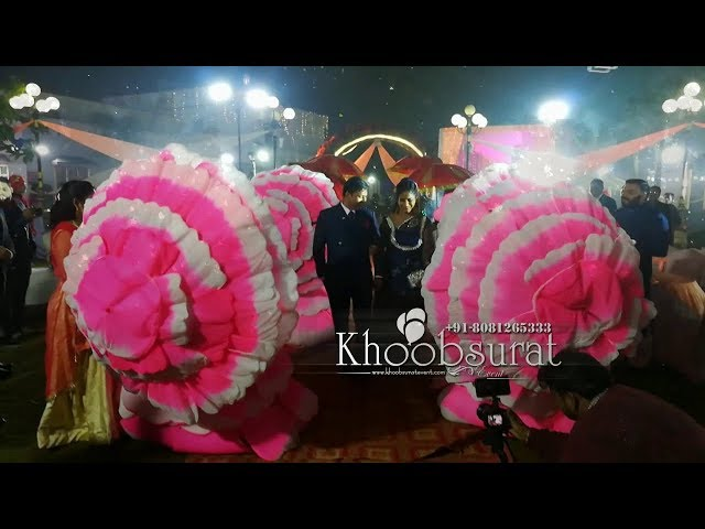 Bride & groom Entry Louts Theme  khoobsurat event