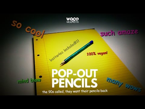 Pop Out Pencils - A 90s kid special - ✎W&G✎