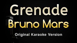 Grenade - Bruno Mars (Karaoke Songs With Lyrics - Original Key)