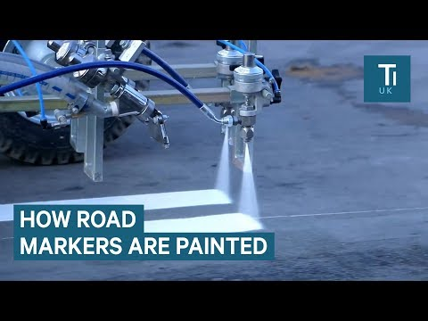 Machines Spray Paint Roads With Incredible Precision