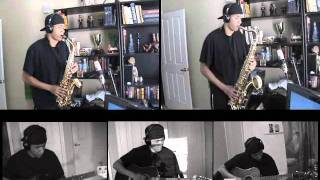 Kansas - Dust In The Wind - Alto and Tenor Saxophone Duet and Guitar by charlez360