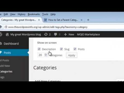 HOW TO SET A PARENT CATEGORY TO A MULTIPLE NUMBER OF CATEGORIES AT A TIME IN WORDPRESS