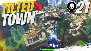 Tilted Town is FREE KILLS! 21 Kill Solo Squad! (Fortnite Battle Royale Gameplay)