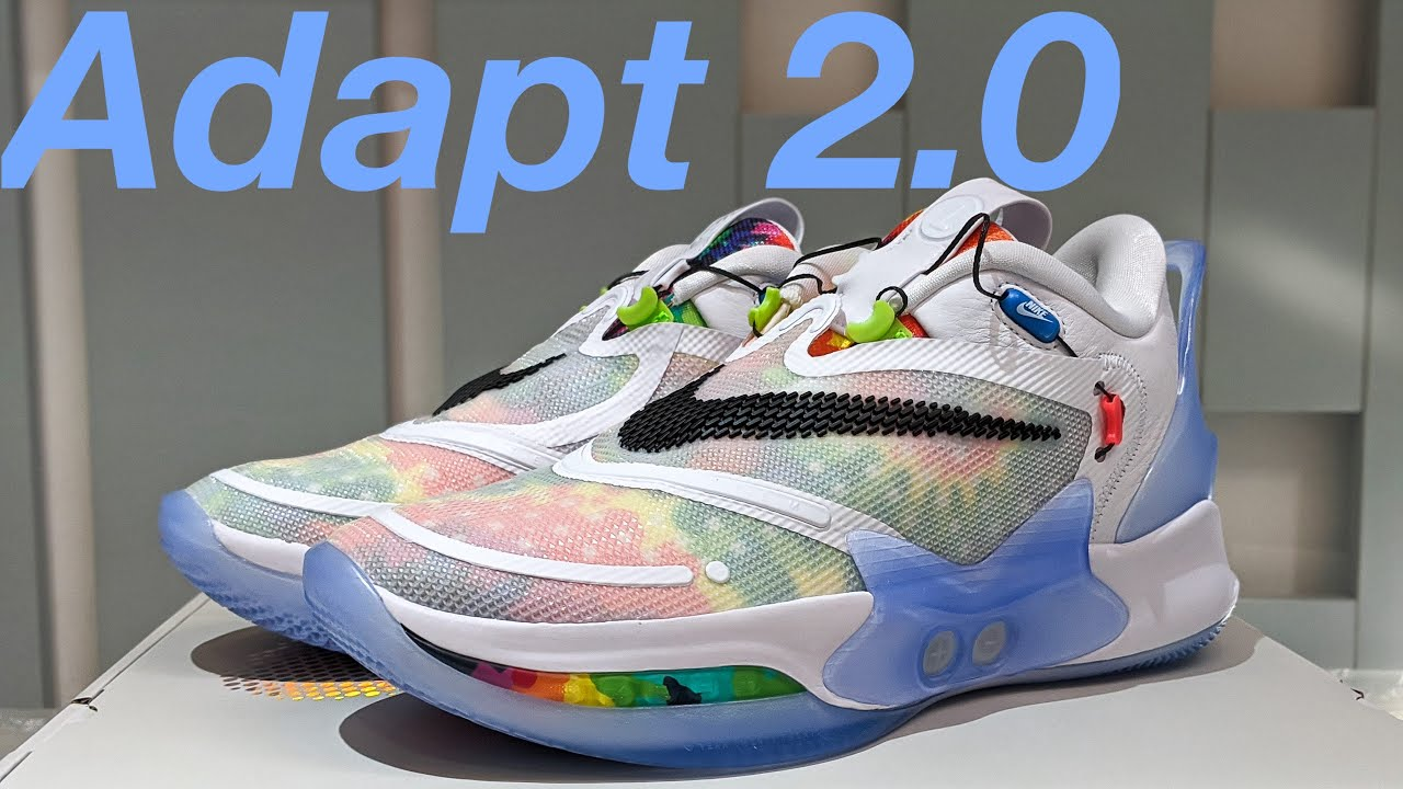 Nike Adapt Bb 2 0 Tie Dye Unboxing Detailed Look On Feet Youtube