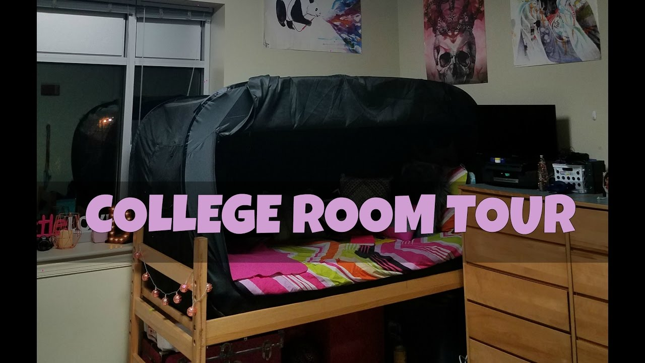 College Dorm Room TOUR!! | Delaware State University Ft Privacy Pop Part 67