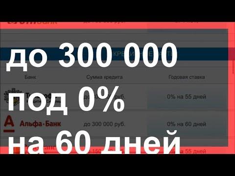 Кредит под 0% на карту 💳 Займ под 0 процентов на кредитная карта #Альфабанк До 300 тыс. на 60 дней!