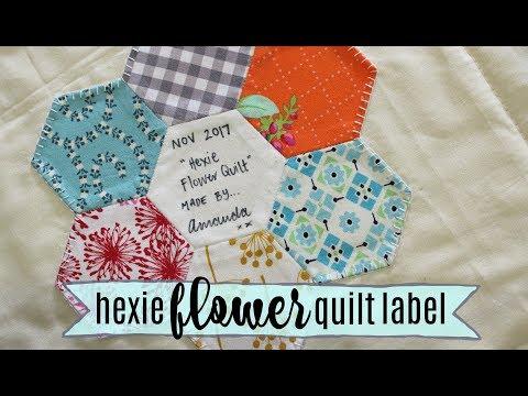 TUTORIAL: Hexie Flower Quilt Label