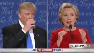 Donald Trump CHOKES and DRINKS Plenty of Water at First Presidential Debate 9/26/16
