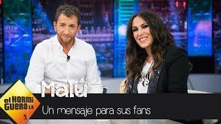 Descubre el mensaje de Malú a todos sus fans con promesa incluida - El Hormiguero 3.0