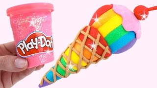DIY How to Make Play Doh Ice Cream Colorful – Learn Colors For Kids Children Toddlers RL