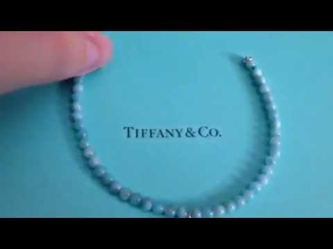 Tiffany Co Mini Heart Tag Bracelet W Blue Beads