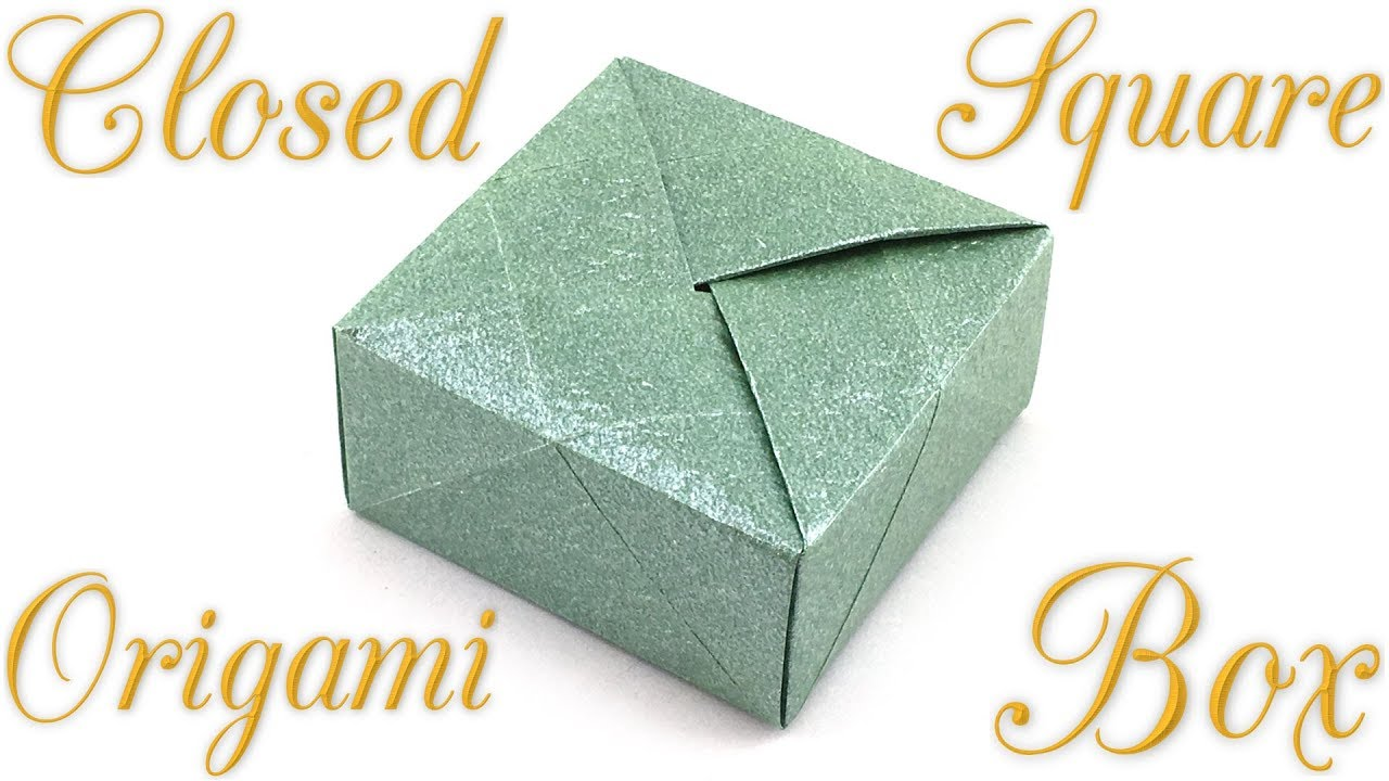 Hinged Origami Box - Cube Version Tutorial - Paper Kawaii | 720x1280