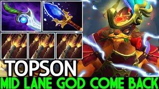 TOPSON [Pangolier] Mid Lane God Back to Ranked Game 7.22 Dota 2