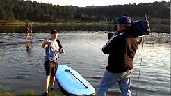 Stand Up Paddleboarding with CBS4 at Evergreen Lake
