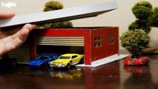 making Old Shoe Box into Toy Car Garage