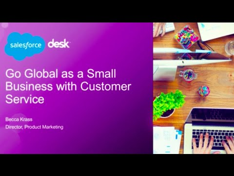 Go global as a small business with customer service